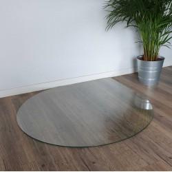 Plaque de sol ronde avec un coin