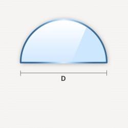 Miroir en demi-cercle