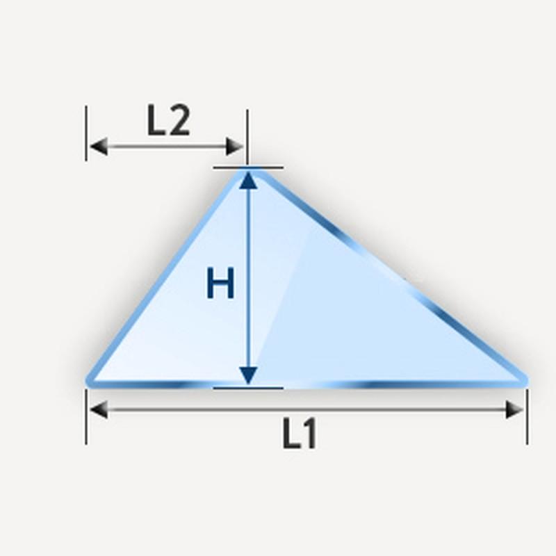 Miroir en triangle