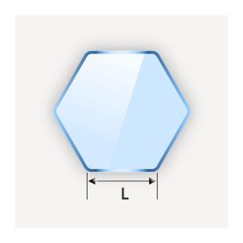 Miroir en hexagone