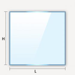 Découpe sur mesure de verre classique carré ou rectangulaire