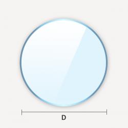 Découpe sur mesure de verre classique en forme de cercle