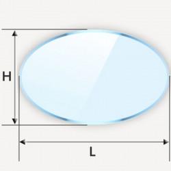 Verre classique en ellipse