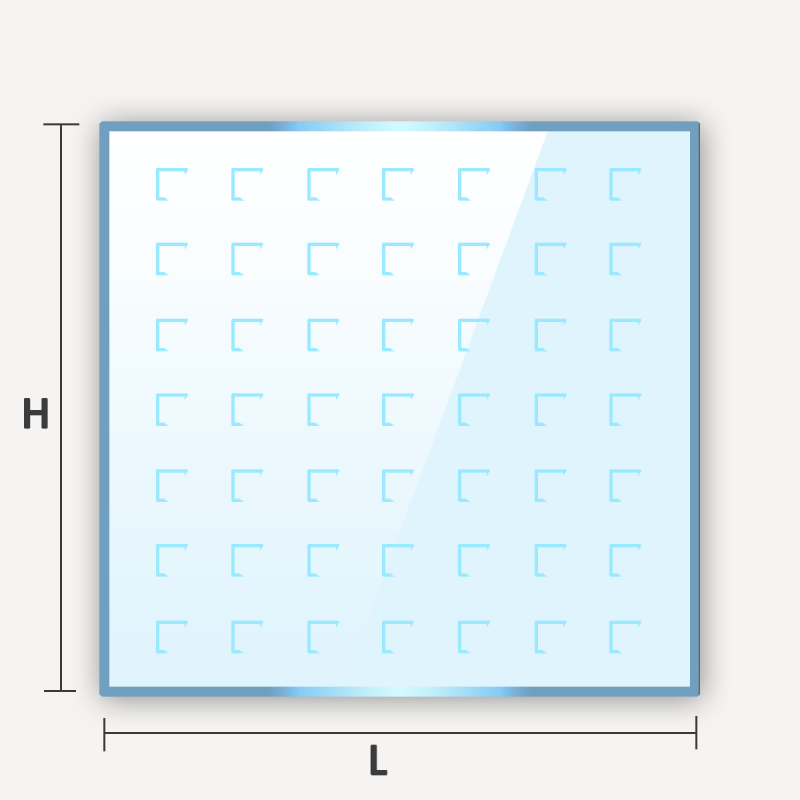 verre décoratif imprimé à motifs sur mesure