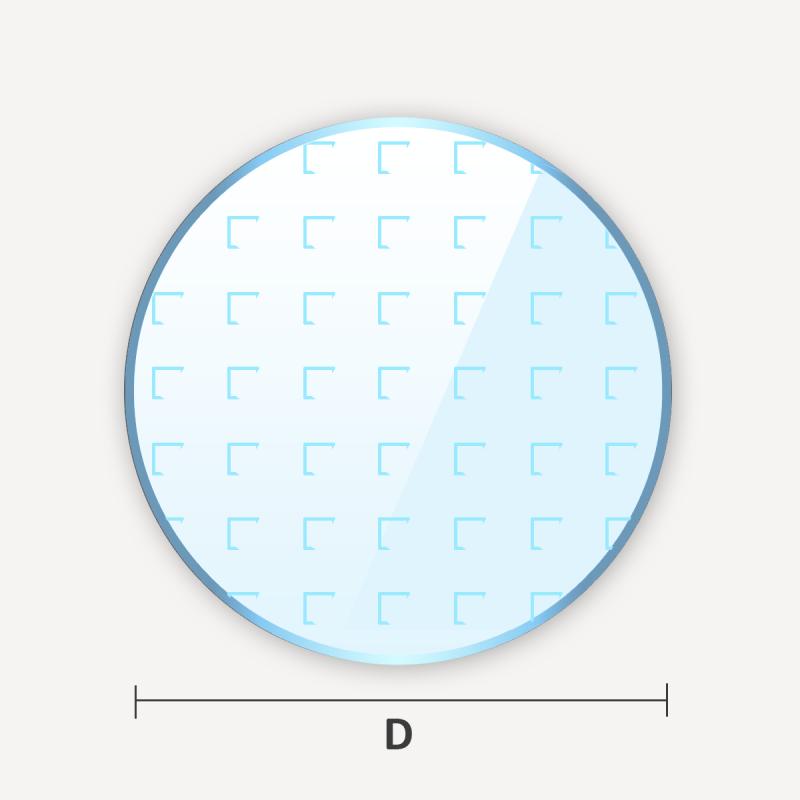 Verre classique imprimé à motif en cercle