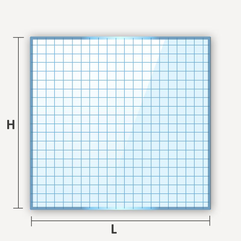 verre armé carré ou rectangulaire