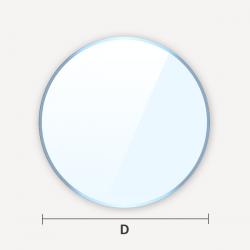 Verre translucide plat dépoli effet givré en cercle ou disque