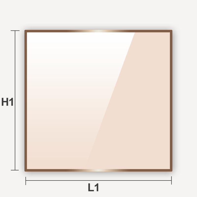 Découpe sur mesure de verre vitrocéramique carré ou rectangulaire
