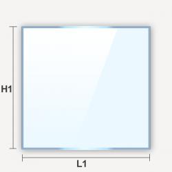 Verre translucide plat dépoli effet givré rectangulaire