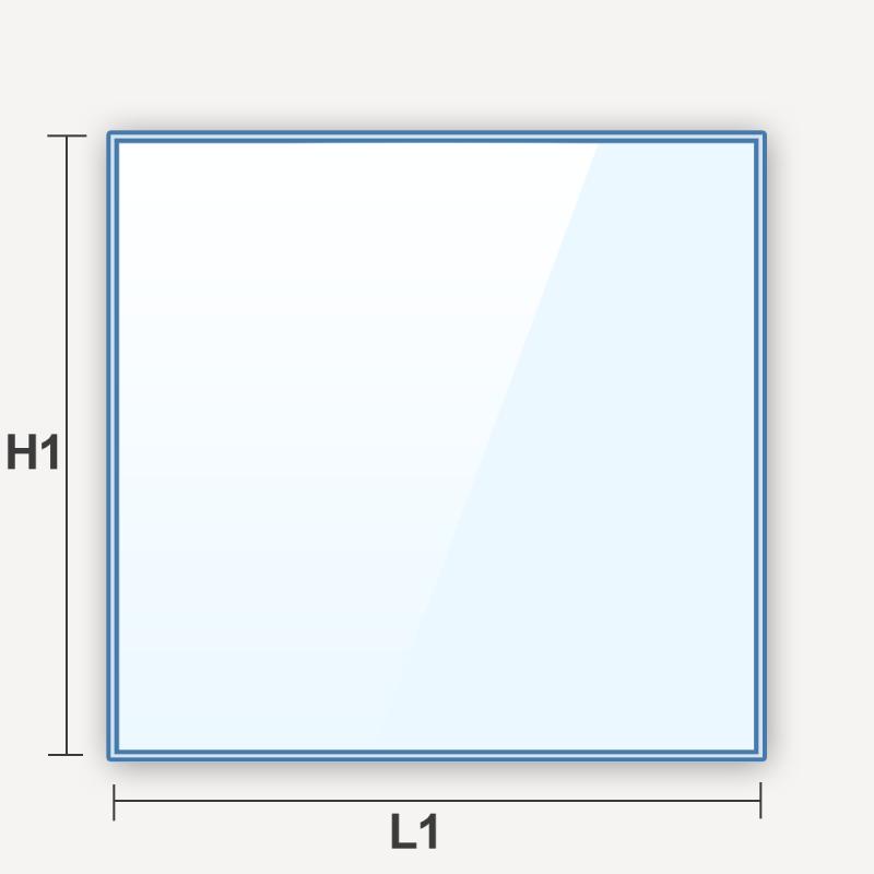 verre feuilleté dépoli effet givré rectangulaire