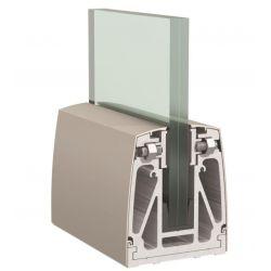 1 Kit complet garde-corps lg 1500 mm pour verre de 17.52mm (88.4)