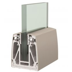 1 Kit complet garde-corps lg 3000 mm pour verre de 17.52mm (88.4)