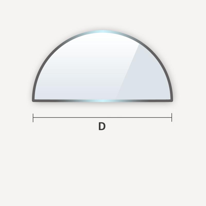 étagère en verre trempé en forme de demi-cercle