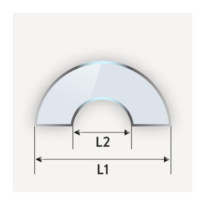 Verre trempé en demi-cercle avec encoche