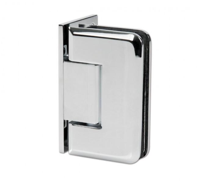 Charnière porte de douche verre-mur 90° montage mural unilatéral