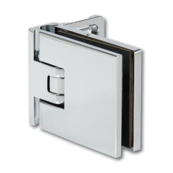 charnière pour porte de douche Milano chromé brilant ou noir carré