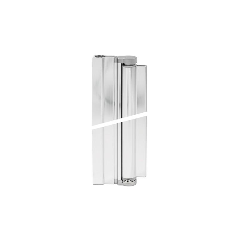 charnière avec profilé pour verre 8mm pour paroi de douche