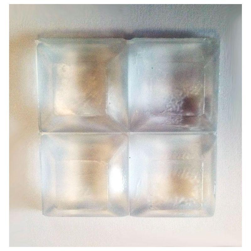 4 tampons carré taille moyenne pour plateau de verre