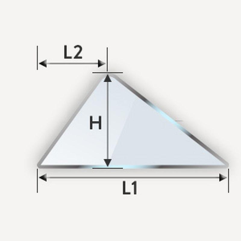 Verre trempé en triangle