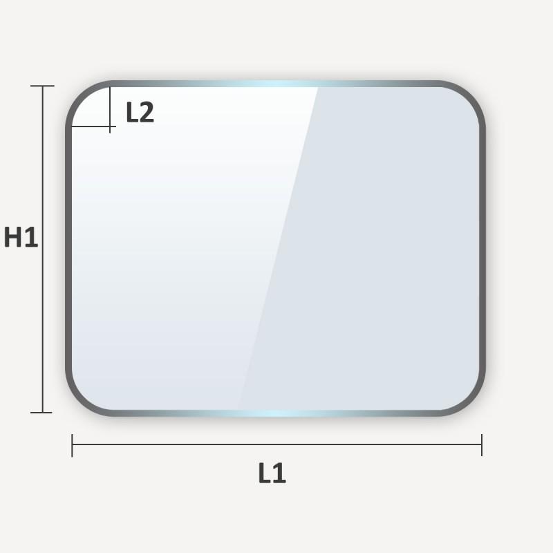 Plaque de sol rectangulaire à coins arrondis
