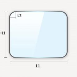 verre classique à coins arrondis découpé sur mesure