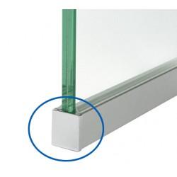 embout de finition pour profilé d'encadrement fixation murale épaisseur adaptable
