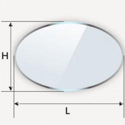 Table en verre - ellipse