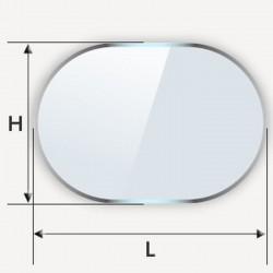Plateau pour table en verre de forme oblongue