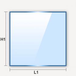 Miroir carré épaisseur 4mm 625mm à recouper