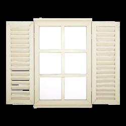 Miroir fenêtre avec portes