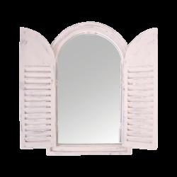 Miroir blanc arrondi avec...