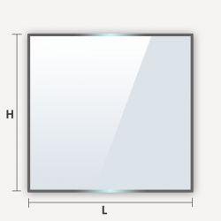 Verre trempé en carré rectangle