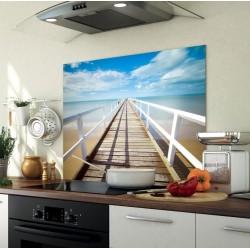 crédence en verre sur mesure personnalisée avec la photo de votre choix fond de hotte en verre personnalisé