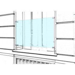 Barrière de sécurité en verre anti effraction pour fenêtre garde corps