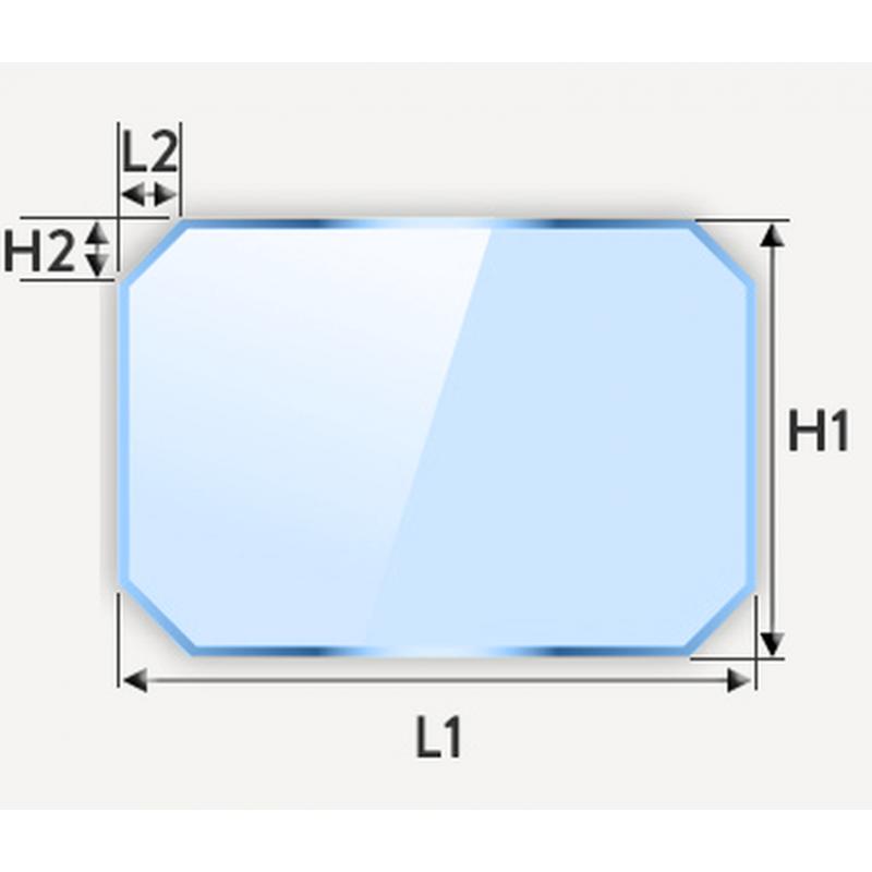 Miroir rectangulaire à coins coupés