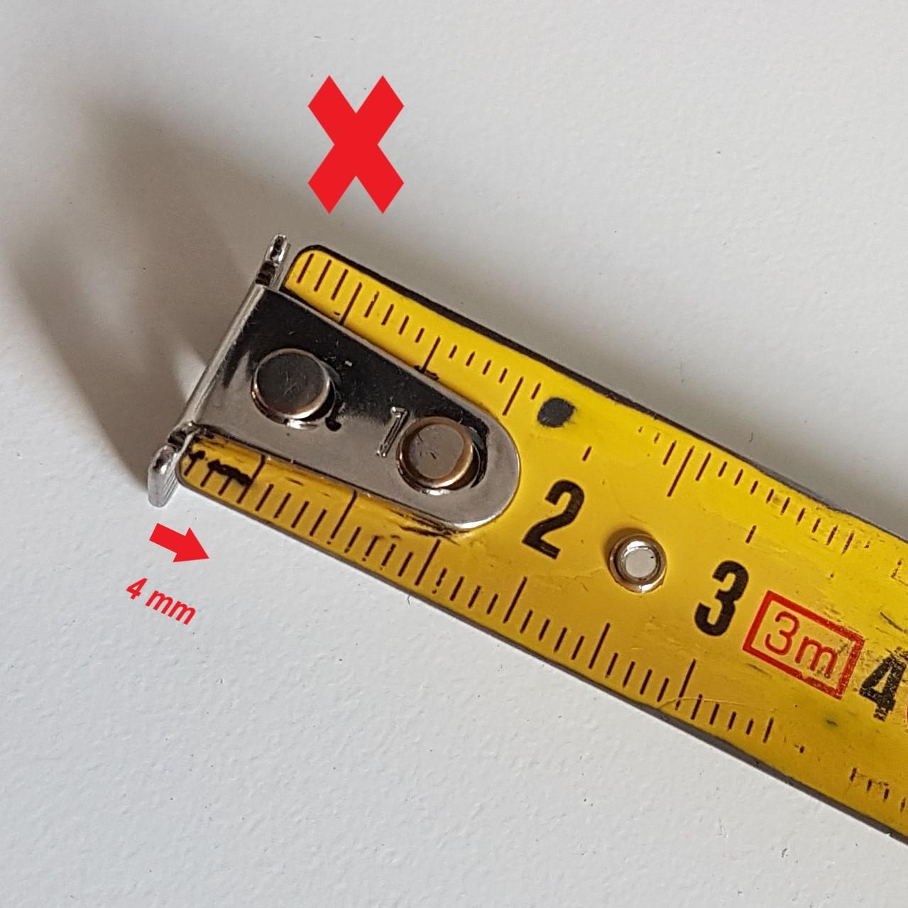 Mauvaise utilisation du mètre