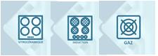 Credence compatible tous feux gaz vitroceramique induction